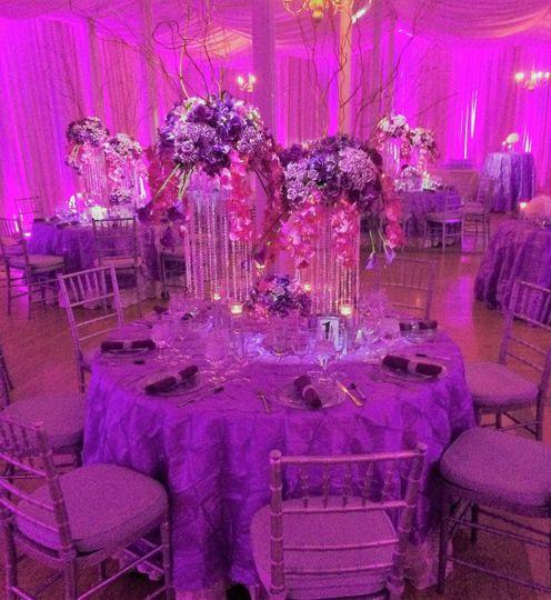 Indoor Ballroom, Designs in Purple