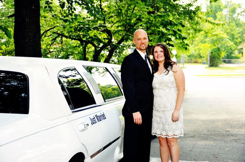 A Great way to start your life together  in a Branson Limousine
