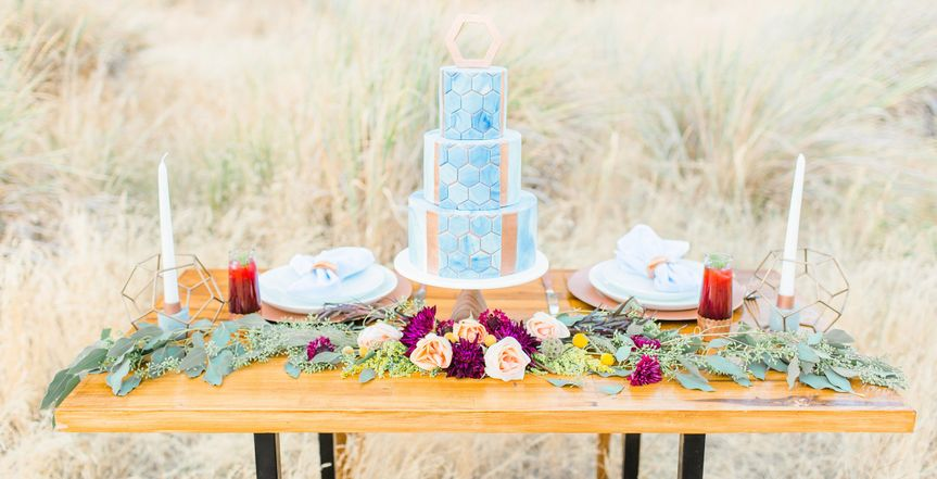 Wedding cake table | PC: Claire Johnson Photography