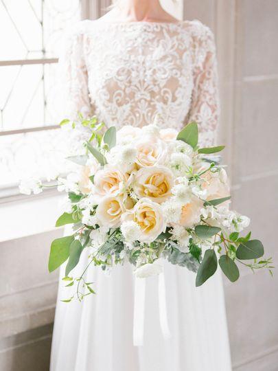 Sleeved lace wedding dress    PC: Elizabeth Nwansi