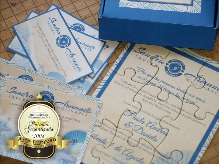 Customize your invitations with any image and text on 9-piece puzzles. These 5x7 inch custom puzzle...