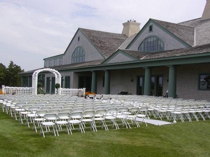 Outdoor wedding ceremony set-up
