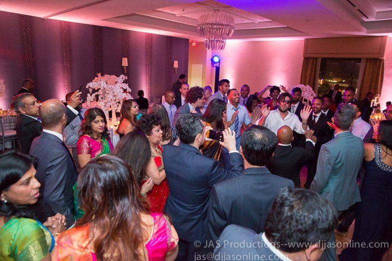 Guests crowding the dance floor