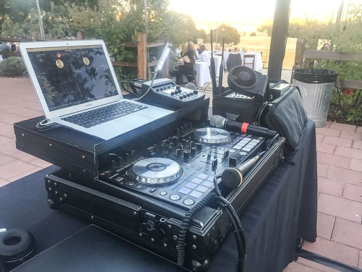 Th DJ booth controls