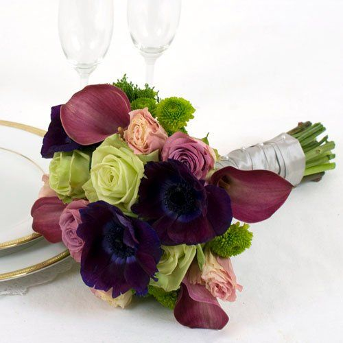 Bright Wedding Collection - Bridal Bouquet  Arranged Wedding Flowers by The Grower's Box