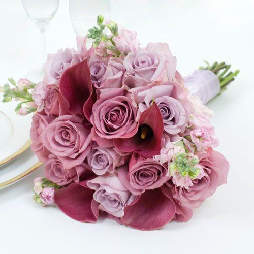 Lavender Wedding Collection - Bridal Bouquet  Arranged Wedding Flowers by The Grower's Box