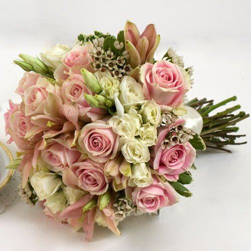 Pink Wedding Collection - Bridal Bouquet  Arranged Wedding Flowers by The Grower's Box