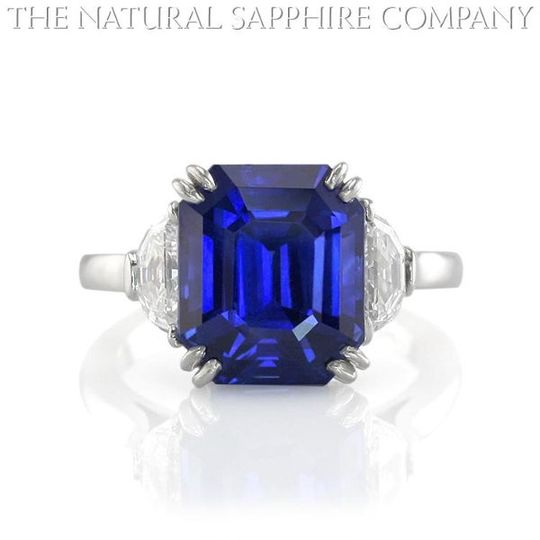 BurmeseNaturalBlueSapphireEngagementRingJ96