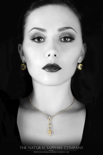olena with yellow sapphire jewelry