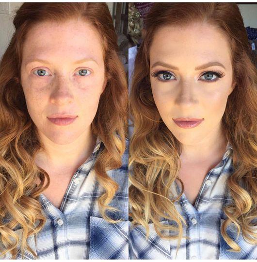 Perfect makeup transformation