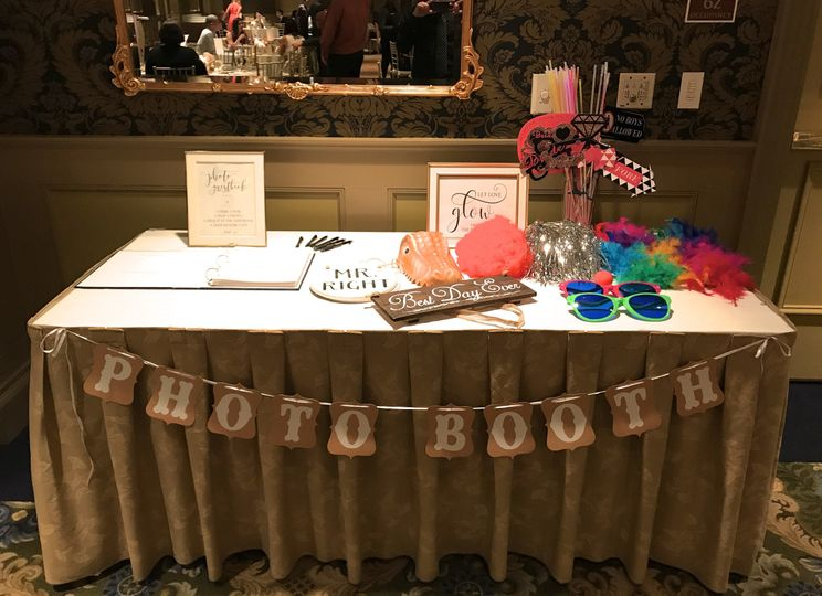 Prop table: Props are included with all our photo booth packages.