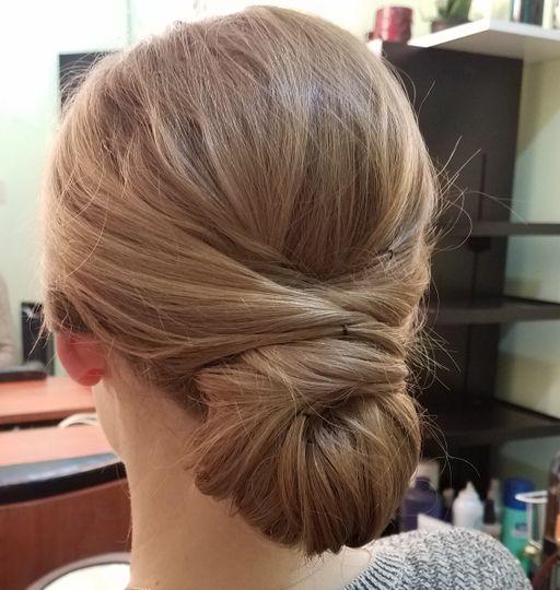Classical bridal updo