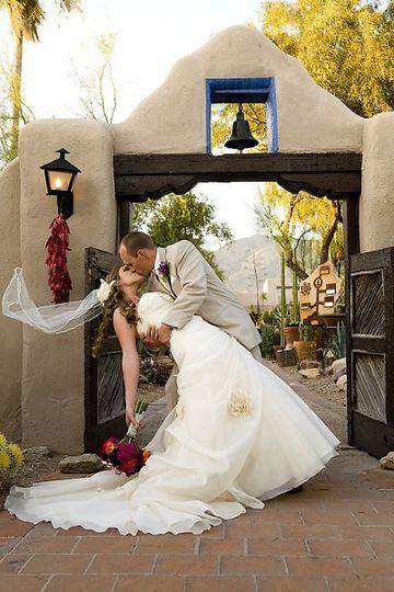 Kiss and Veil in the Wind at Hacienda Del Sol Tucson Arizona