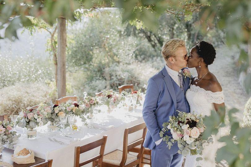 Micro wedding with panoramic v
