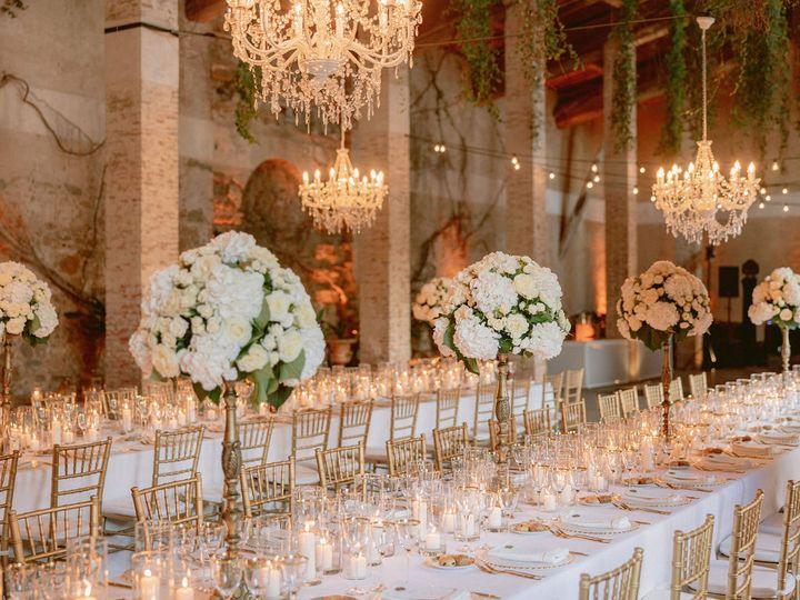 Chic wedding reception