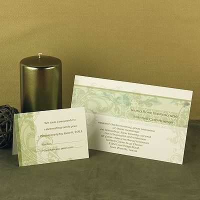 Scrolls, frames, flourishes — the best of everything, collected together all on one invitation....