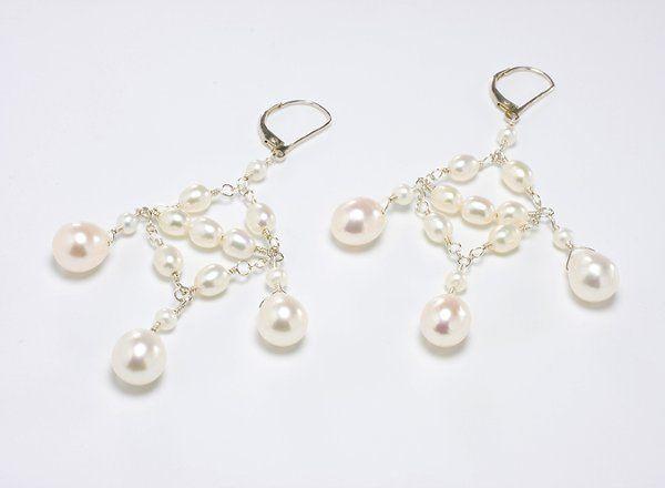 Teardrop Pearl Chandelier Earring