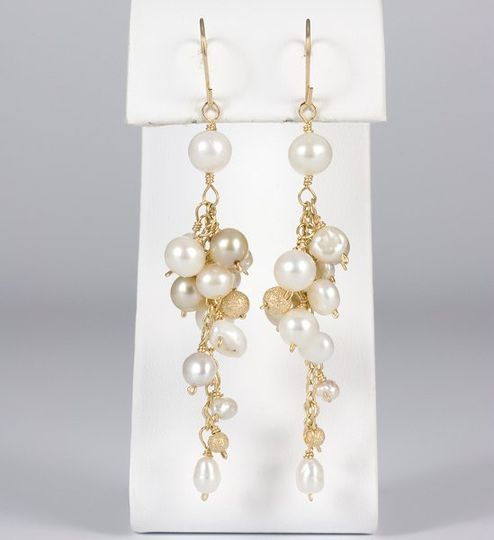 Mixed Pearl Cluster Earring