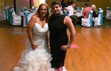 The bride with Debra