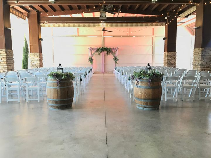 Simple ceremony in patio