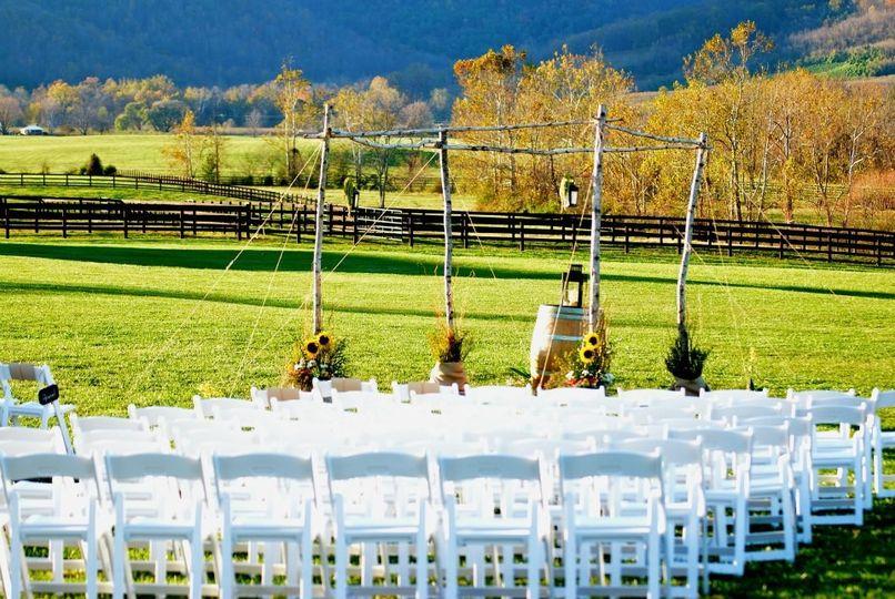 wedding alter of randolph and sara