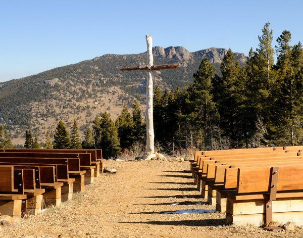 Mountainside Chapel, seat ups to 160 guests and has electric for music.