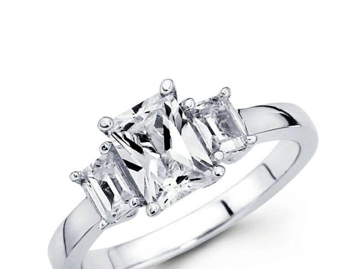 Tmx 1450730692158 3stone Emerald Cut Los Angeles wedding jewelry