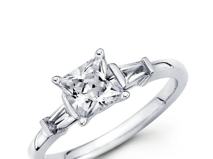 Tmx 1450730731954 Princess Side Baguettes Los Angeles wedding jewelry