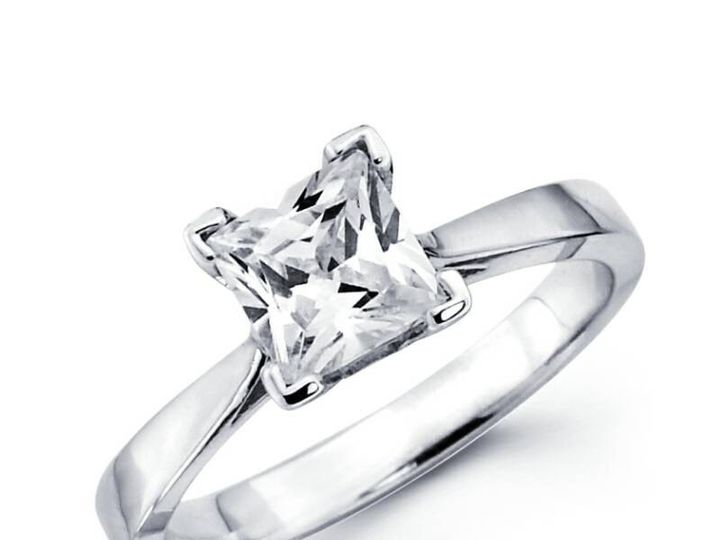 Tmx 1450730747567 Princess Solitaire Los Angeles wedding jewelry