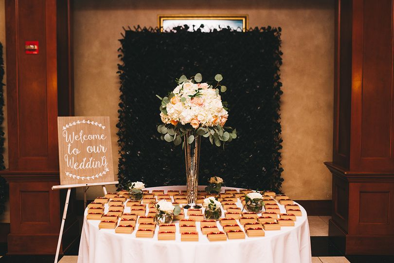Escort Table at Entrance