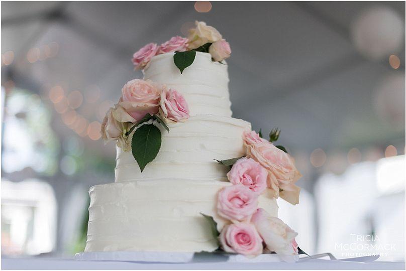 Wedding cake - Log Rolling Catering