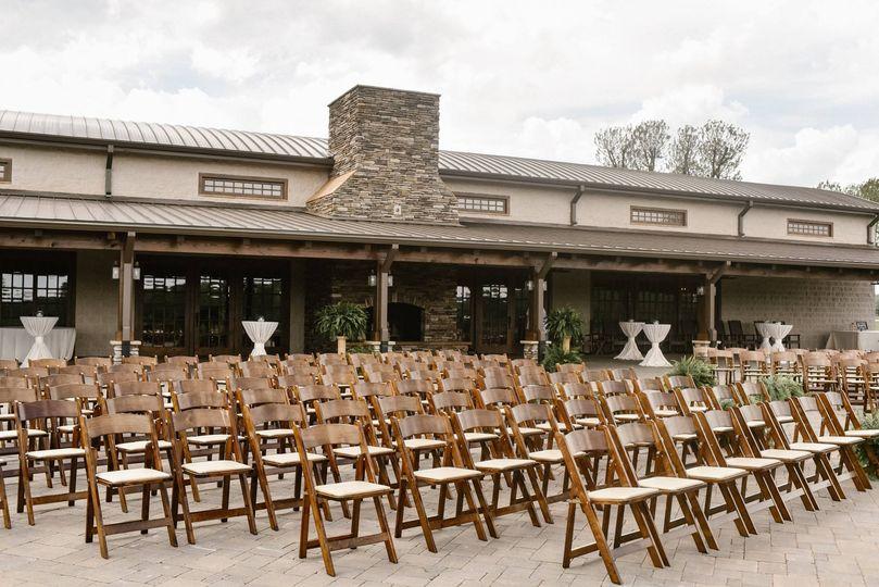 Ceremony Chairs on the Veranda