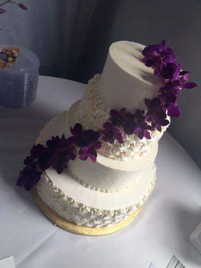 Violet cascading flowers