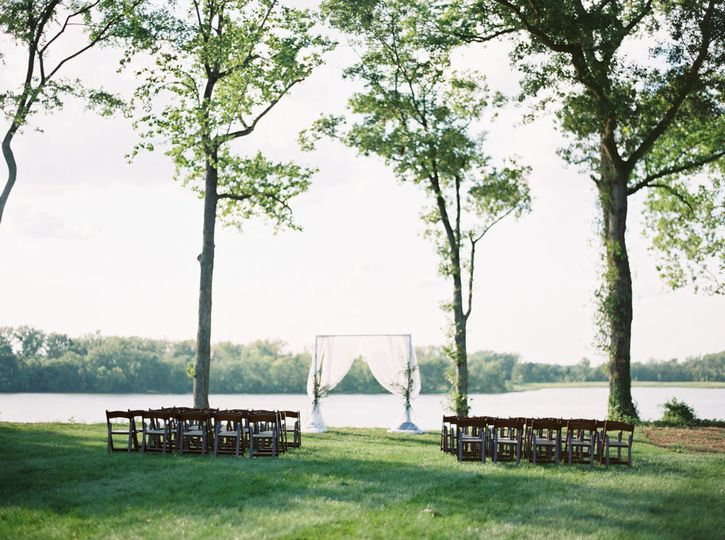 Wedding chairs and arbor