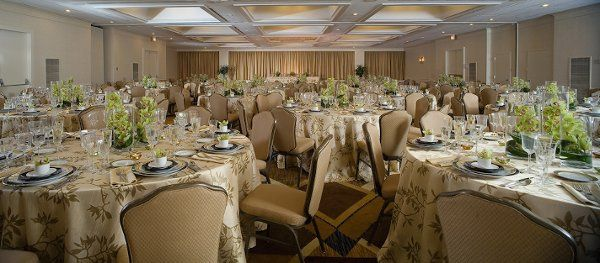 Our Elegant Ballroom hosts up to 320 guests for a Wedding Reception
