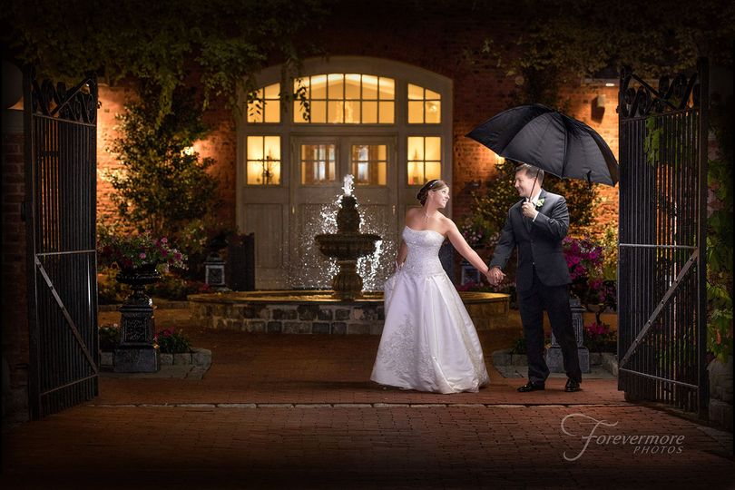 Romantic night time photography at Talamore Country Club