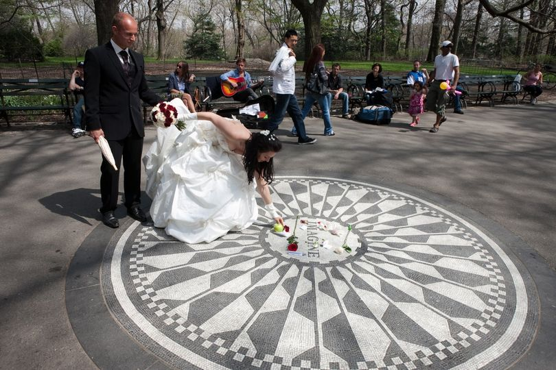 John Lennon Imagine Memorial.