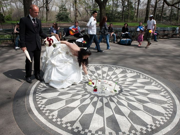 Tmx A Wedding Couple At The John Lennon Imagine Memorial Near Strawberry Fields In Central Park 51 418738 New York, NY wedding officiant