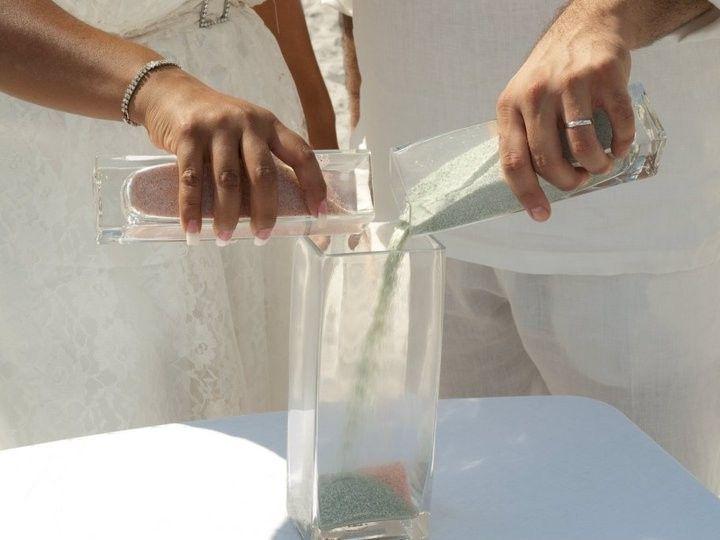 wedding day romance unity sand ceremon