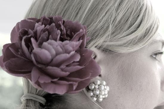 Amanda's hair with flower