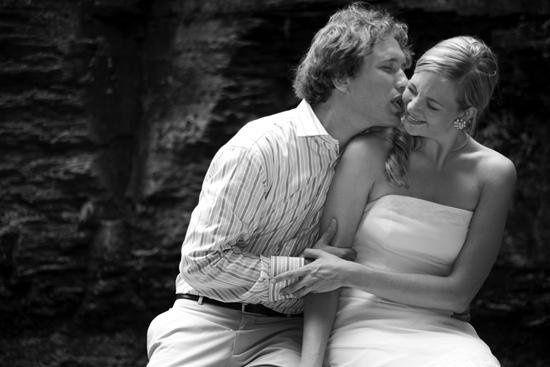 Couple at Lucifer Falls at Treman