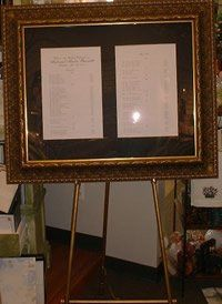 We offer this frame rental in Gold or Silver, the cost is $150 to rent which includes the frame,...