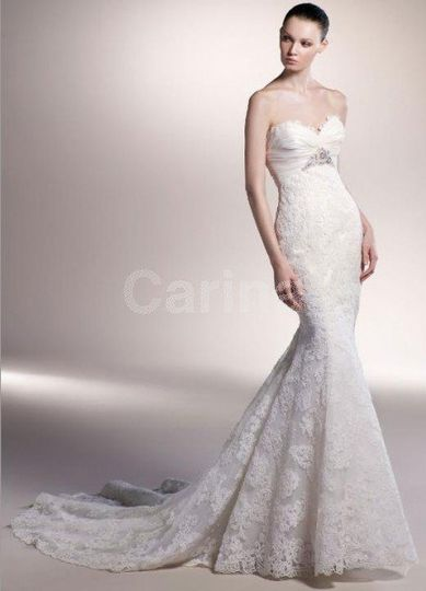 Mermaid Lace White Wedding Dresses