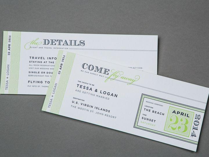 Tmx 1389741812493 Invite A2 Wayzata wedding invitation
