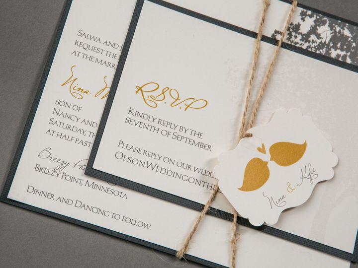 Tmx 1389743484248 5oncewe Wayzata wedding invitation