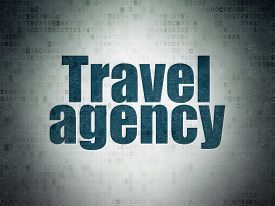 f635ab87950580ce travel concept painted blue word travel agency on digital cg1p