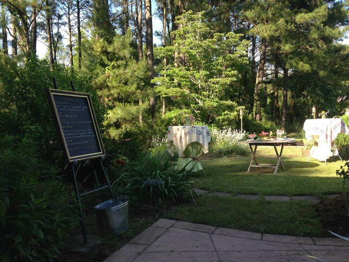 Outdoor Reception in the Farmhouse Garden.