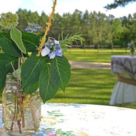 Scenitc Garden Reception overlooking pastures.