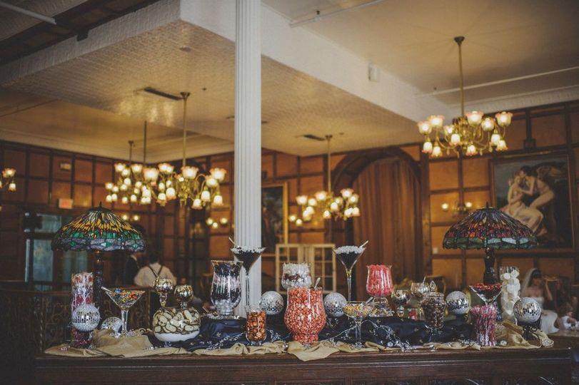 Table decor and hall lighting