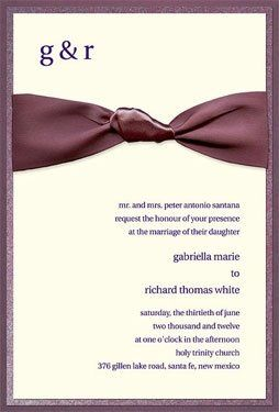 Layered invitation with ribbon from Checkerboard
